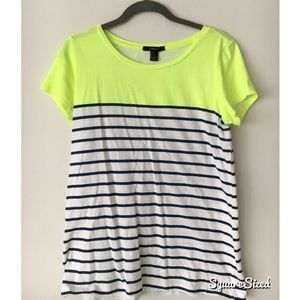 2-color striped T
